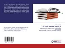 Lecture Notes Series 4的封面