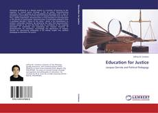 Couverture de Education for Justice