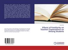 Couverture de Effects of Familiarity on Teachers' Expectations on Hmong Students