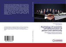 Capa do livro de Psychology of economic self-determination of person and community