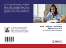 Bookcover of How to Write a Scientific Research Article