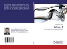 Calculus 1 kitap kapağı
