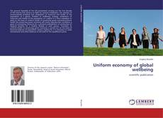 Buchcover von Uniform economy of global wellbeing