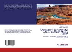 Couverture de Challenges to Sustainability: A focus on Indian Mining Sector