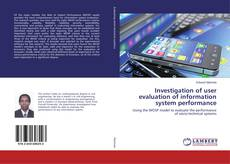 Portada del libro de Investigation of user evaluation of information system performance