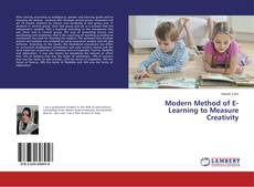 Bookcover of Modern Method of E- Learning to Measure Creativity
