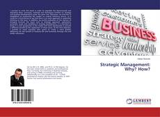 Buchcover von Strategic Management: Why? How?