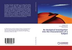 Bookcover of An Analytical Investigation into the Characteristics of a Subject