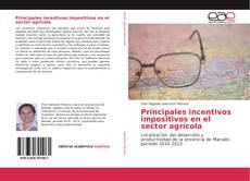 Bookcover of Principales incentivos impositivos en el sector agrícola