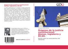 Orígenes de la justicia constitucional: Atenas, Inglaterra y EE.UU. kitap kapağı