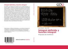 Copertina di Integral definida y función integral