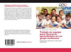 Portada del libro de Trabajo en equipo para favorecer aprendizajes en un grupo numeroso