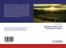 Bookcover of Applied analysis and functional analysis