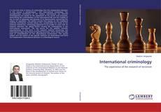 Bookcover of International criminology