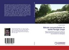 Bookcover of Nitrate accumulation in some forage crops