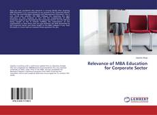 Обложка Relevance of MBA Education for Corporate Sector