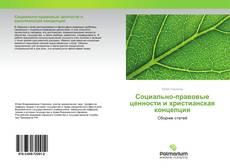 Copertina di Социально-правовые ценности и христианская концепция