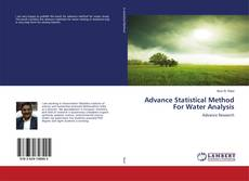 Bookcover of Advance Statistical Method For Water Analysis