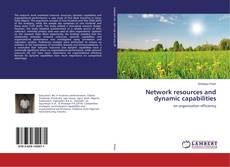 Capa do livro de Network resources and dynamic capabilities