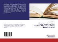 Capa do livro de Student's perception towards Distance Learning course material