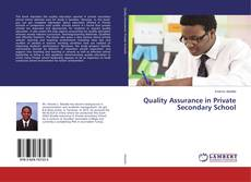 Bookcover of Quality Assurance in Private Secondary School