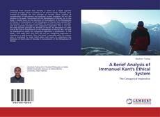 Capa do livro de A Berief Analysis of Immanuel Kant's Ethical System