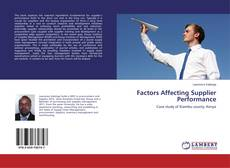 Bookcover of Factors Affecting Supplier Performance