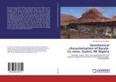 Buchcover von Geochemical characterization of Baryte-Cu veins, Gulani, NE Nigeria