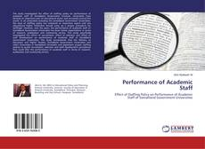 Portada del libro de Performance of Academic Staff