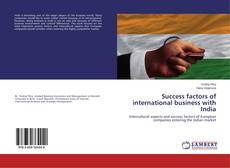 Buchcover von Success factors of international business with India