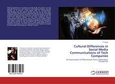 Bookcover of Cultural Differences in Social Media Communications of Tech Companies