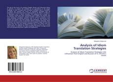 Couverture de Analysis of Idiom Translation Strategies