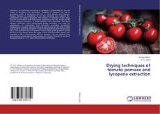 Bookcover of Drying techniques of tomato pomace and lycopene extraction