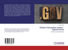 Bookcover of Citizen Interaction online - Egovernance