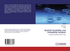 Bookcover of Rainfall Variability and Probability Analysis