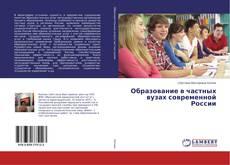 Образование в частных вузах современной России kitap kapağı