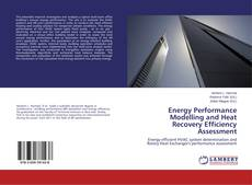 Buchcover von Energy Performance Modelling and Heat Recovery Efficiency Assessment