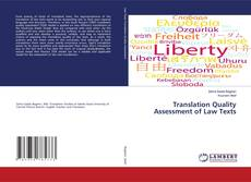 Bookcover of Translation Quality Assessment of Law Texts