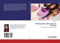 Capa do livro de Peking Opera-Bel Canto in Chinese