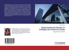 Portada del libro de Organizational Climate in Colleges:An Empirical Study