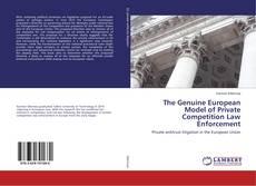 Capa do livro de The Genuine European Model of Private Competition Law Enforcement