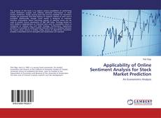 Bookcover of Applicability of Online Sentiment Analysis for Stock Market Prediction