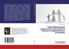 Обложка Трансформация социального института семьи в современных условиях