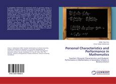 Bookcover of Personal Characteristics and Performance in Mathematics