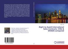 Couverture de Right to Avoid International Sales Contracts: CISG & OHADA compared