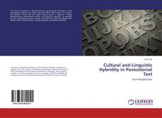 Buchcover von Cultural and Linguistic Hybridity in Postcolonial Text