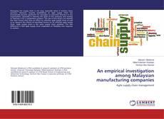 Обложка An empirical investigation among Malaysian manufacturing companies