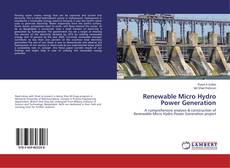 Couverture de Renewable Micro Hydro Power Generation