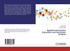 Bookcover of Applied Information Extraction and Sentiment Analysis