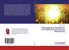 Capa do livro de Developing a Framework for Political Party Finance Monitoring